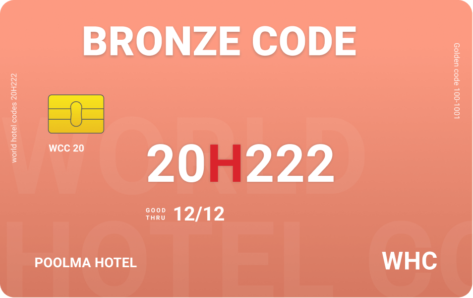 Bronze code world hotel codes