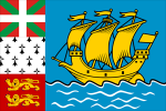 Flag Saint Pierre and Miquelon